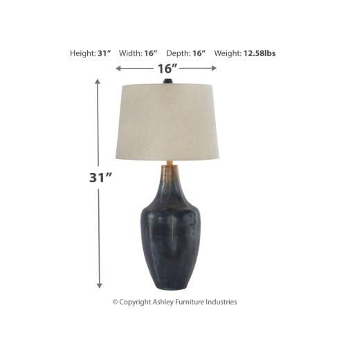 Signature Design By Ashley - Evania Table Lamp