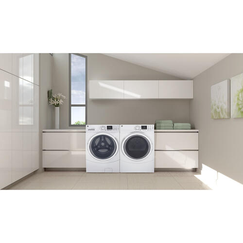 GE 5.2 Cu. Ft. Front Load Energy Star Electric Washer with Steam White - GFW450SSMWW
