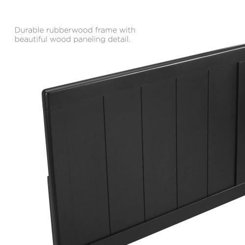 Robbie Queen Wood Headboard in Black