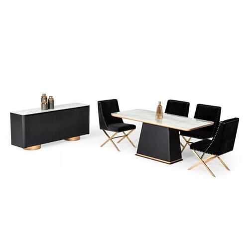Modrest Peak - Modern Black Oak Dining Table
