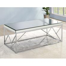 Evelyn Cocktail Table, Chrome