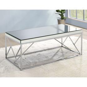 Evelyn Cocktail Table, Chrome
