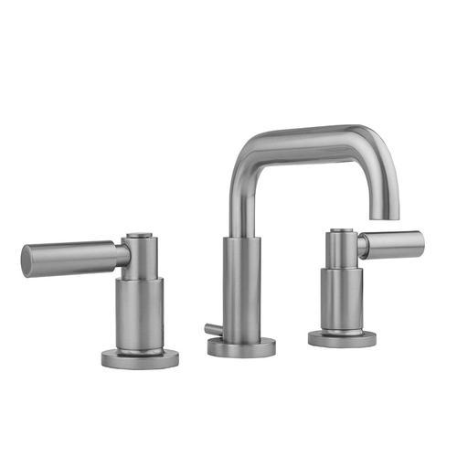Jaclo - Antique Brass - Downtown Contempo Faucet with Round Escutcheons & High Lever Handles