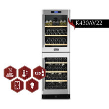 View Product - KUCHT 155-Bottle Dual Zone Wine Cooler Built-in with Compressor in Stainless Steel