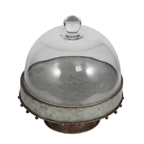 Plate Wth Glass Dome