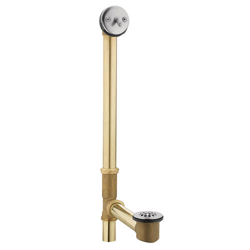 """Moen Chrome Tub Drain with Trip Lever for 24"""" Whirlpool Tubs (22.3""""L x 5.8""""W x 4.3""""H)"""