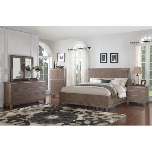 Emerald Home Vista Queen Storage Bed Kit Weathered Gray B242-10stor-k