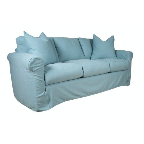 Roll Arm, Plush Depth, Three Cushion, King Slipcover Sofa.