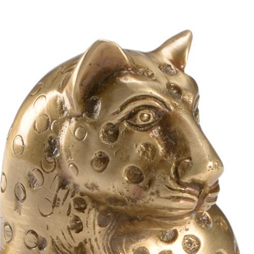 Brass Kat Candlestick