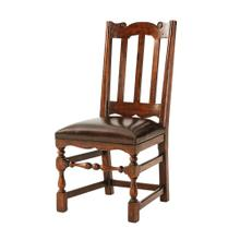 Country Seat Side Chair, #plain# - Upholstered