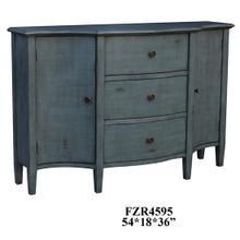 Abigail 2 Door 3 Drawer Brushed Cool Blue Credenza