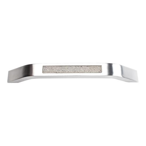 Product Image - Crystal Inset Pull 6 5/16 Inch (c-c) - Matte Chrome