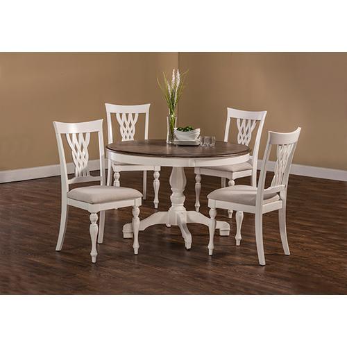 Hillsdale Furniture - Bayberry / Embassy 5-Piece Round Dining Set - White