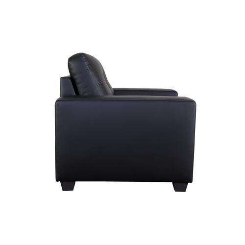 Henley Black with White Stitch Sofa, Loveseat, Chair, SWU9230
