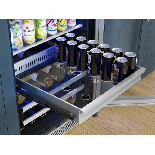 "Zephyr - 24"" Full Size Single Zone Beverage Cooler"