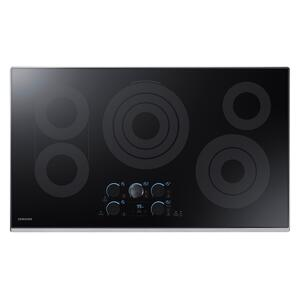 "Samsung36"" Smart Electric Cooktop with Sync Elements in Stainless Steel"