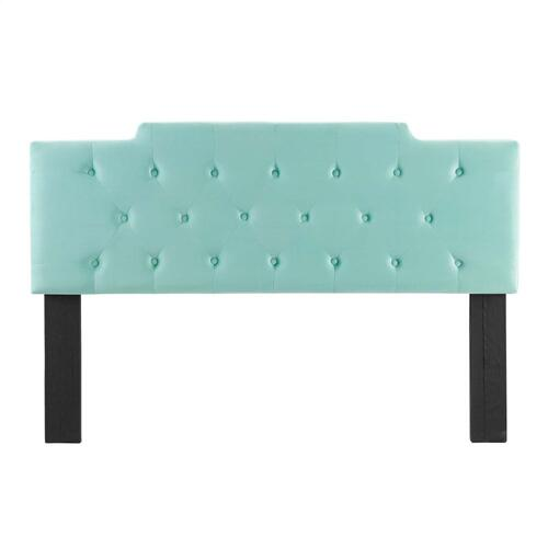 Juliet Tufted King/California King Performance Velvet Headboard in Mint