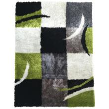 Vibrant Hand Tufted Modern Shag Lola 004 Area Rug by Rug Factory Plus - 2' x 3' / Black Gray Green