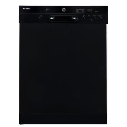 "GE 24"" Built-In Front Control Dishwasher with Stainless Steel Tall Tub Black - GBF412SGMBB"