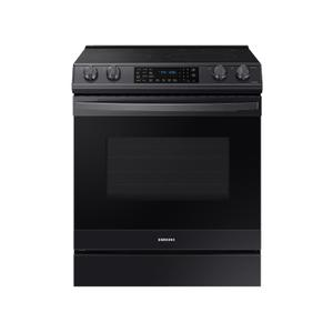 Samsung Appliances6.3 cu. ft. Smart Slide-in Electric Range with Air Fry in Black Stainless Steel