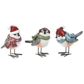 Holiday Birds Figurines (6 pc. ppk.)