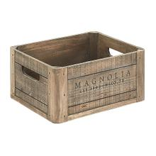 Wood Crate with Magnolia Logo