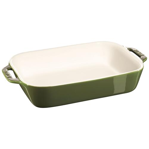 Staub Ceramique 2-pc Rectangular Baking Dish Set - Basil