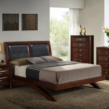 See Details - Emily 111 Merlot Wood Arch-Leg QUEEN & KING Bed, King