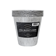 See Details - Disposable Foil Bucket Liners - 6 Pack