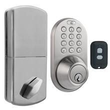 3-in-1 Remote Control & Touchpad Dead Bolt (Satin Nickel)