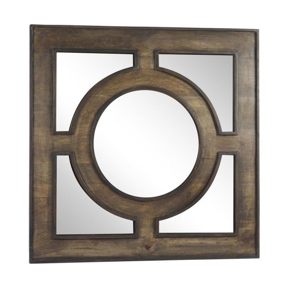 "Wooden 36"" Wall Mirror, Gray"