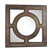 "Wooden 36"" Wall Mirror, Gray"