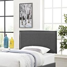 Camille Twin Upholstered Fabric Headboard in Gray