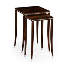 Soho nesting table with white brass detail