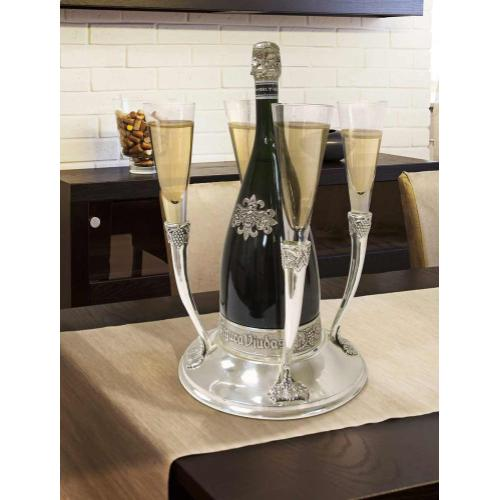 Epicureanist Champagne and Flute Holder