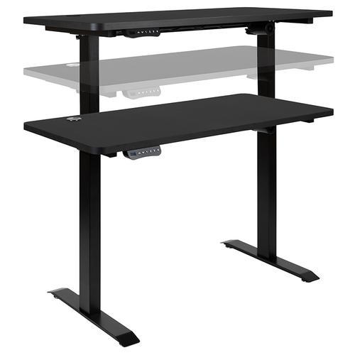 "Flash Furniture - Electric Height Adjustable Standing Desk - Table Top 48"" Wide - 24"" Deep (Black)"