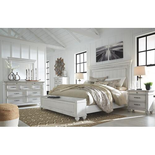 6 Piece Set (3 Piece Queen Storage Bed, Dresser, Mirror and Nightstand)