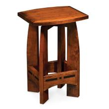 """See Details - Aspen Swivel Barstool with Inlay, No Back, 30"""" Seat Height"""