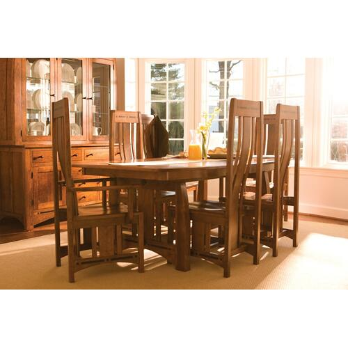 Simply Amish - Aspen Island Table with Inlay
