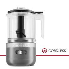 Cordless 5 Cup Food Chopper - Matte Charcoal Grey