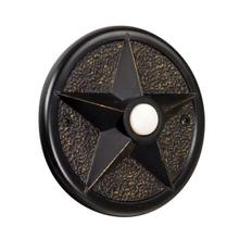 Surface Mount Star Lighted Push Button in Antique Bronze