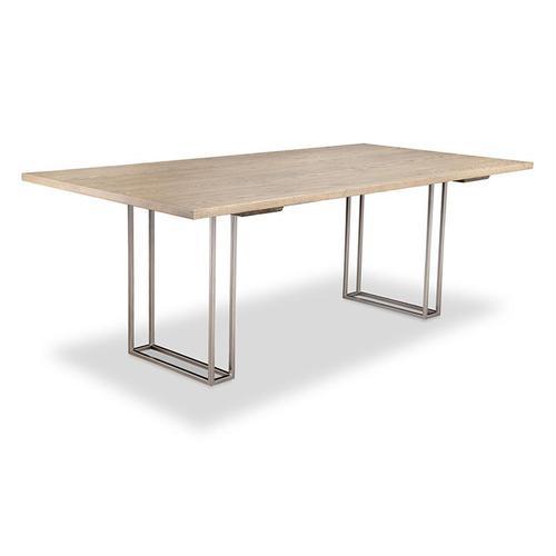 - Electra 42x96 Solid Top Metal Pedestal Table