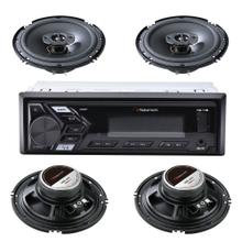 Single-DIN In-Dash Mechless Car Audio System Package