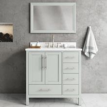 See Details - Ocean Grey MALIBU 36-in Single-Basin Vanity with Carrara Stone Top