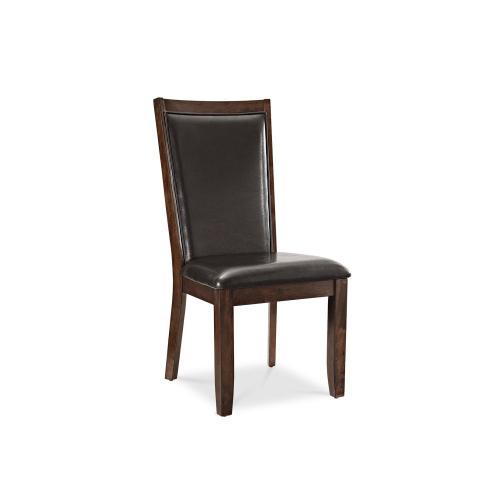 Briana Side Chair, Brown PU