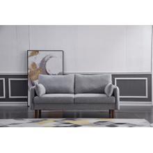 See Details - 8152 LIGHT GRAY Linen Stationary Basic Sofa