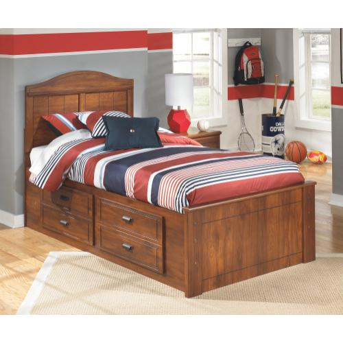 Barchan Twin Panel Bed With 4 Storage Drawers