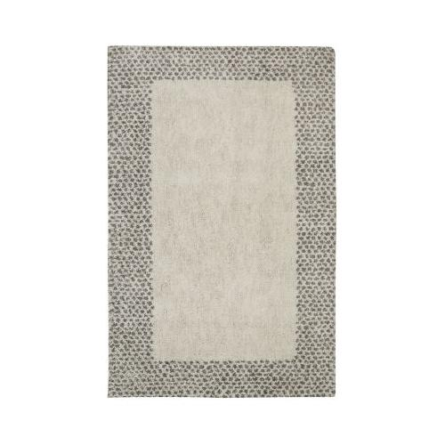 Mohawk - Spotted Border, Gray- Rectangle