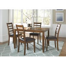 View Product - 5 Piece Rectangular Leg Table Set