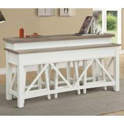 AMERICANA MODERN - COTTON Everywhere Console with 3 Stools Product Image